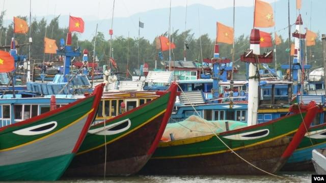Tàu đánh cá của ngư dân Việt ở tỉnh Quảng Ngãi.