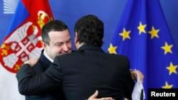 Srpski premijer Ivica Dačić i predsednik Evropske komisije Hoze Manuel Baroso u Briselu 26. juna 2013.