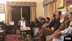 حکومتی راہنماؤں اور دھرنا قائدین کے درمیان اسلام آباد میں مذاکرت ۔ 18 نومبر 2017