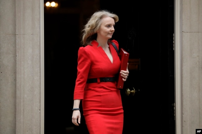 Liz Truss Britain's Chief Secretary to the Treasury leaves after a cabinet meeting at 10 Downing Street in London, March 26, 2019.