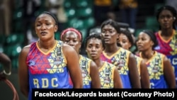 Ba léopards sénior ya basketball ya basi na phase finale ya Afrobasket, Dakar, Sénégal, 11 août 2019. (Facebook/Léopards basket)