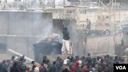 Lokasi kejadian bom bunuh diri di dekat pangkalan AS di Bagram, Afghanistan (6/3).