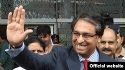 Sekjen Kementerian Luar Negeri Pakistan, Jalil Abbas Jilani tiba di bandara New Delhi, India (3/7).