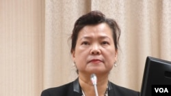 台灣經濟部部長王美花。 (美國之音張永泰拍攝)