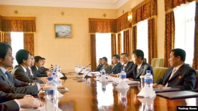15-16일 양일간 몽골 울란바토르에서 진행된 북·일 정부 간 회담 (조선신보 사진).