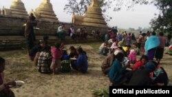 ရခိုင္စစ္ေဘးေရွာင္ ဒုကၡသည္မ်ား။ (ဓာတ္ပံု - Rakhine Ethnics Congress)