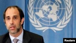 오헤아 퀸타나 신임 유엔 북한인권특별보고관이 미얀마인권특별보고관 시절인 지난 2010년 5월 스위스 제네바에서 열린 유엔 인권이사회에서 발언하고 있다. (자료사진)