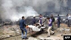8이 시리아 다마스쿠스의 폭탄 테러 현장.