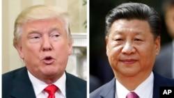 Tổng thống Hoa Kỳ Donald Trump (trái) và Chủ tịch Trung Quốc Tập Cận Bình.
