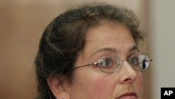 American activist Lori Berenson attends a hearing at a court in Lima, Peru, January 10, 2011.
