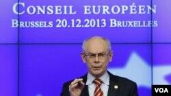 ປະທານ ສະຫະພາບຢູໂຮບ ທ່ານ Herman van Rompuy ໄດ້ສະແດງຄວາມບໍ່ພໍໃຈຂອງທ່ານ ກັບກຸງມົສກູ