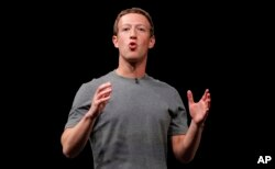 FILE - Facebook CEO Mark Zuckerberg speaks in Barcelona, Spain, Feb. 21, 2016.