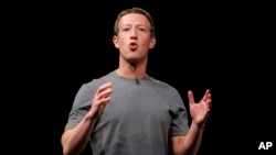FILE - Facebook CEO Mark Zuckerberg