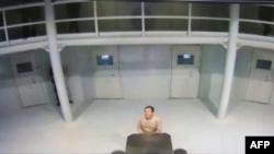 Imagen tomado de un video de Joaquín El Chapo Guzmán dentro de la cárcel, la cual fue difundida por la Secretaría de Gobernación de México.