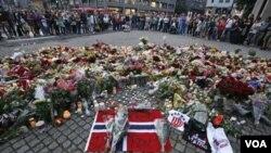 Warga Norwegia di ibukota Oslo masih berduka cita dengan korban serangan teror pengeboman dan penembakan.