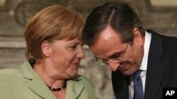 Ангела Меркель и Антонис Самарас