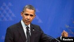 美国总统奥巴马,2014年3月25日。