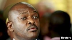 Le président burundais Pierre Nkurunziza le 23 février 2016 à Bujumbura. (REUTERS/Evrard Ngendakumana)