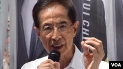香港民主黨創黨主席李柱銘 (美國之音 湯惠芸拍攝)