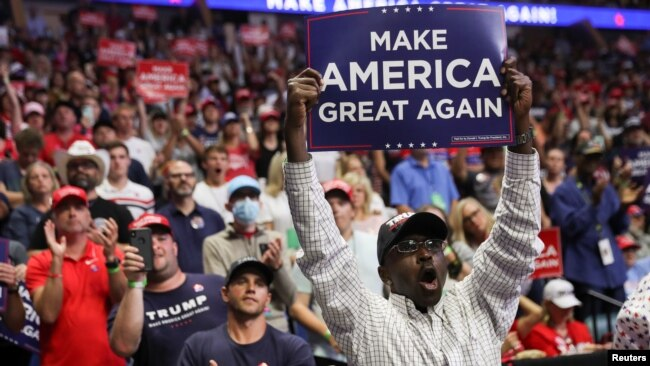 Những người ủng hộ Tổng thống Trump.