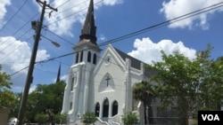The Emanuel AME Church, Charleston, South Carolina. (Amanda Scott/VOA)