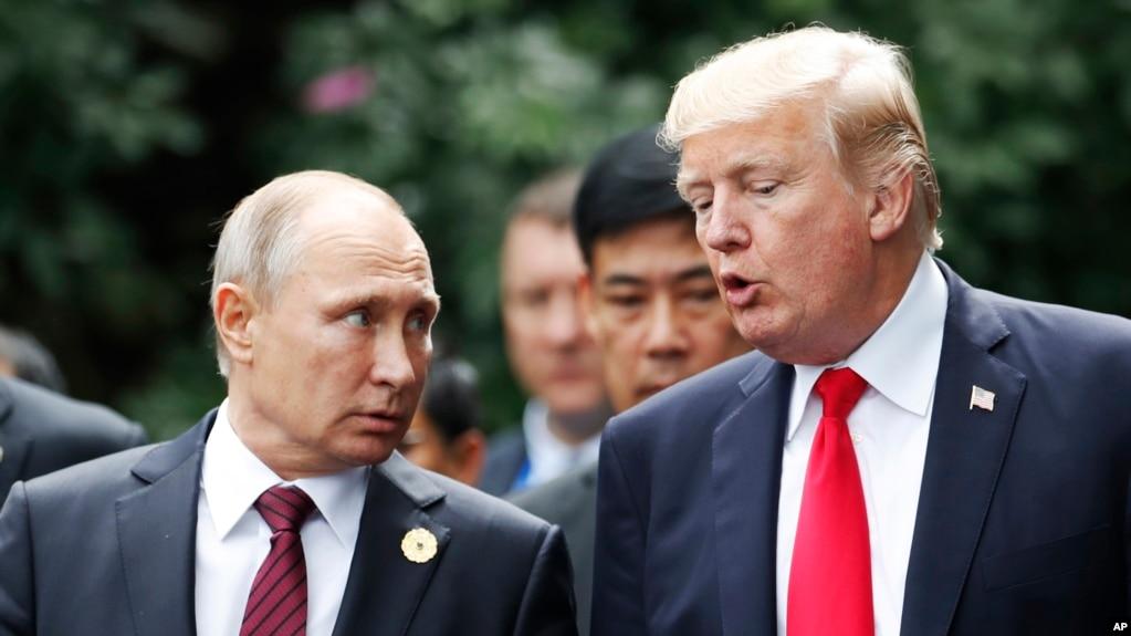 Tổng thống Nga Vladimir Putin và Tổng thống Hoa Kỳ Donald Trump gặp nhau vào tháng 11/2017.