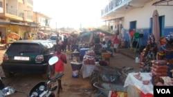 Mercado de Bandim na cidade de Bissau