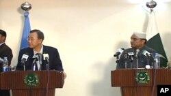دونوں رہنما مشترکہ پریس کانفرنس کرتے ہوئے