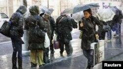 Нью-Йорк, снегопад. 7 ноября 2012 года