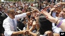 奧巴馬在德克薩斯州與墨西哥交界處的埃爾帕索發表講話