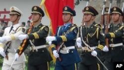 中国三军仪仗队队列演示