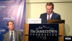 Посол Украины в США Олександр Моцик и президент Джеймстаунского фонда Глен Ховард