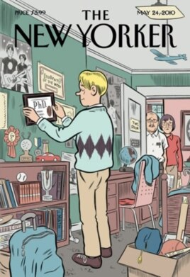 Last year's 'New Yorker' magazine cover perfectly captured the boomerang-kid phenomenon. Note the look on his parents' faces.