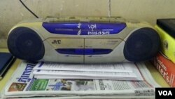 This is a photo of radio that belongs to a Voice of America listener in Phnom Penh, Cambodia who recently submitted the photo as part of a Facebook photo contest. The photo and participation shows the popularity of VOA broadcasts for many Cambodians. (Courtesy of Kan Sophano)