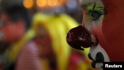 Seorang badut di Mexico City. (Foto: Dok)