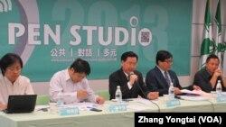 民进党举办六四事件24周年谈中国人权的座谈会(美国之音张永泰拍摄)