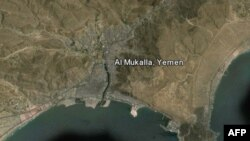 Bản đồ Mukalla, thị trấn ven biển mà tổ chức al-Qaida trên bán đảo Ả rập đã kiểm soát trong một năm qua.