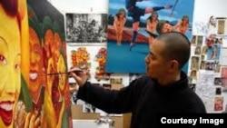 画家郭健。(网络图片)