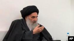 Iraklı Şiiler'in dini lideri Ayetullah Ali Sistani