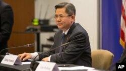 미국 시카고를 방문 중인 정쩌광 중국 외교부 부부장이 18일 기자회견을 열고 미국과 타이완의 무기 거래를 규탄했다. (자료사진)