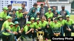 پاکستان وومن کرکٹ ٹیم، سری لنکا سے میچ جیتنے کے بعد،