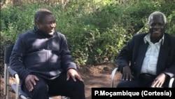 Nyusi e Dlhakama, Gorongosa, 2017.