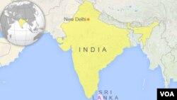 Map of India and Sri Lanka