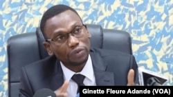 Benjamin Hounkpatin, ministre de la Santé, le 27 décembre 2019 à Cotonou. (VOA/Ginette Fleure Adande)