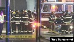 伊利諾伊州坎頓社區發生天然氣爆炸造成傷亡。 (視頻截圖)