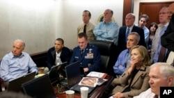 جمهور رییس اوباما د ملي امنیت له ډلې سره د اسامه بن لادن د وژلو برید له سپینې ماڼۍ نه ځاره