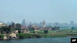 Cairo, the capital of Egypt, on the bank of the Nile River