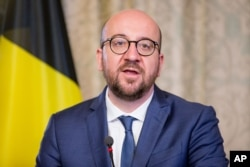 FILE - Belgian Prime Minister Charles Michel says Belgium has had 'great successes' in combating terrorism.