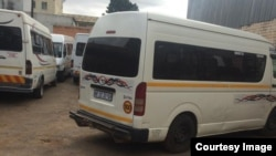 Grounded ... Some of the long distance kombis stuck in Zimbabwe's second largest city, Bulawayo. (Courtesy Image)