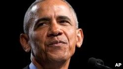 Barack Obama lors de la campagne du gouverneur Ralph Northam, à Richmond, Virginie, le 19 octobre 2017.